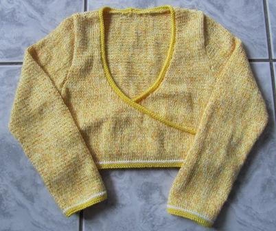 Cache-coeur jaune